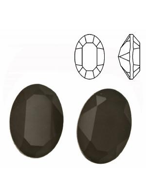 Gemma ovale sfaccettata, in cristallo, colore FANGO