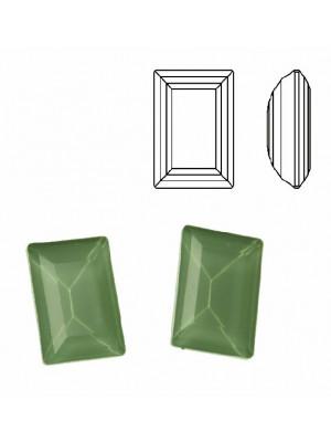 Gemma rettangolare sfaccettata (taglio STEP CUT), in cristallo, colore VERDE CHIARO