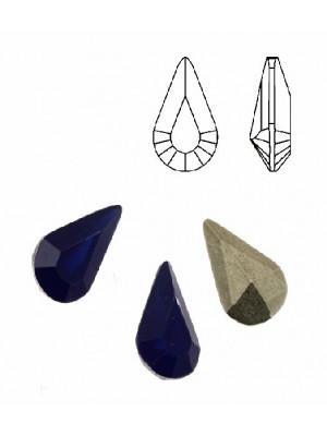Gemma a goccia sfaccettata, in plexiglass, colore BLU OPAL