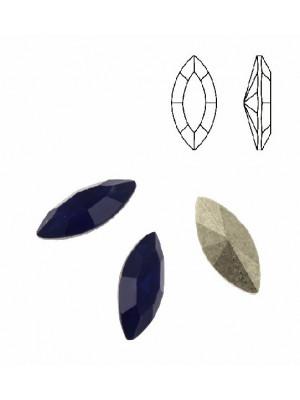 Gemma a navetta sfaccettata, in plexiglass, colore BLU OPAL