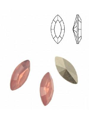 Gemma a navetta sfaccettata, in plexiglass, colore ROSA OPAL