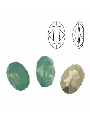 Gemma ovale sfaccettata, in plexiglass, colore PACIFIC OPAL