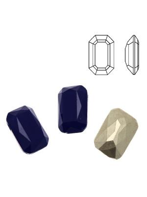 Gemma rettangolare sfaccettata (con gli angoli smussati), in plexiglass, colore BLU OPAL