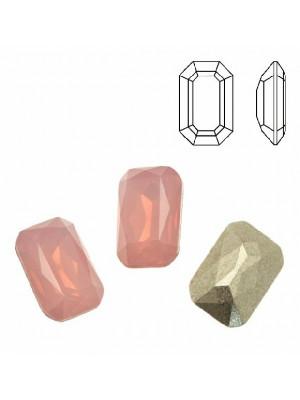 Gemma rettangolare sfaccettata (con gli angoli smussati), in plexiglass, colore ROSE OPAL