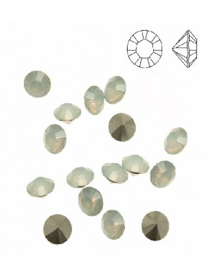 Gemma tonda conica sfaccettata, in plexiglass, colore WHITE OPAL