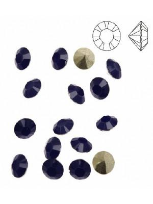 Gemma tonda conica sfaccettata, in plexiglass, colore BLU OPAL