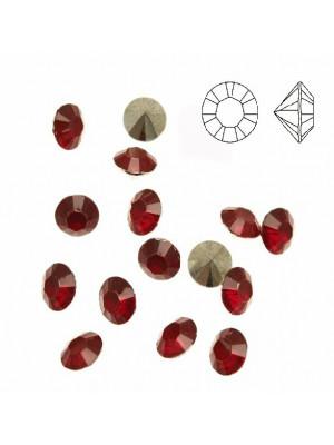 Gemma tonda conica sfaccettata, in plexiglass, colore ROSSO OPAL