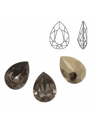 Gemma a goccia sfaccettata, in resina, colore BLACK DIAMOND