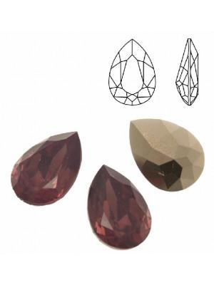 Gemma a goccia sfaccettata, in resina, colore CYCLAMEN OPAL
