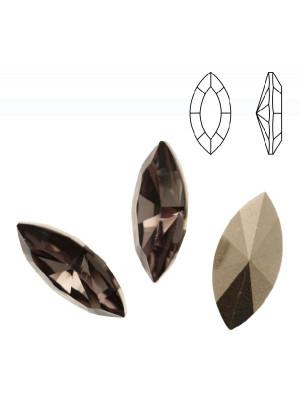 Gemma a navetta sfaccettata, in resina, colore BLACK DIAMOND