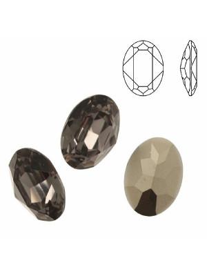Gemma ovale sfaccettata, in resina, colore BLACK DIAMOND