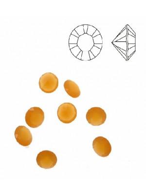 Gemma tonda conica sfaccettata, in resina, colore ARANCIONE OPALE
