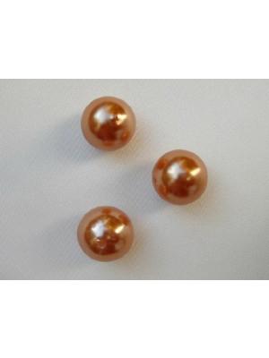 Perla effetto perlato in resina liscia colore Arancione