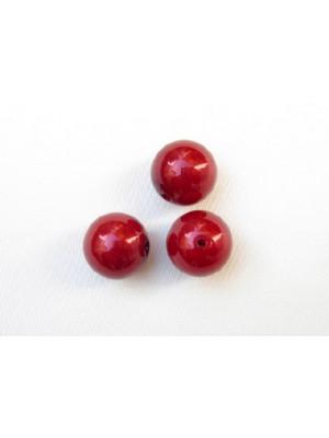 Perla effetto perlato in resina liscia colore Rosso