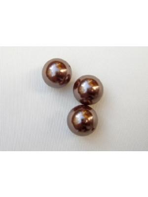 Perla effetto perlato in resina liscia colore Marrone medio
