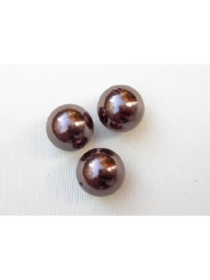 Perla effetto perlato in resina liscia colore Marrone scuro