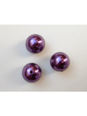 Perla effetto perlato in resina liscia colore Burgundy