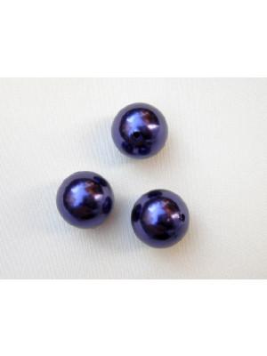 Perla effetto perlato in resina liscia colore Viola scuro