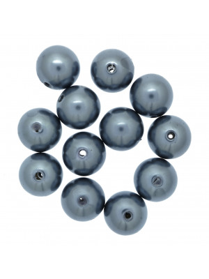 Perla effetto perlato in resina liscia colore Grigio Piombo