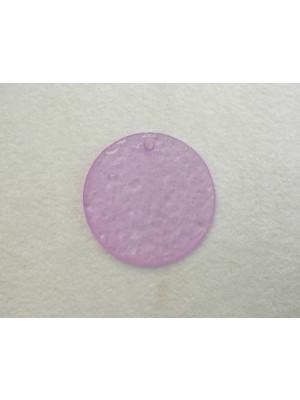 Paiette ghiacciata in resina con foro in alto color Glicine