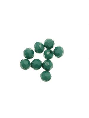 Palla in resina sfaccettata, color Verde smeraldo