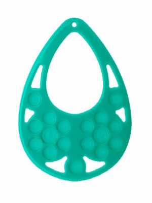 Filigrana a goccia, in resina, 57x77 mm., color Verde acqua