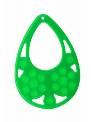 Filigrana a goccia, in resina, 57x77 mm., color Verde prato