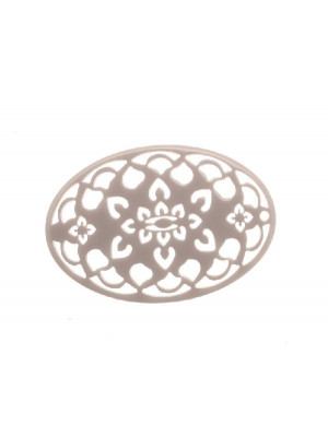Filigrana ovale, in resina, 35x55 mm., colore Grigio