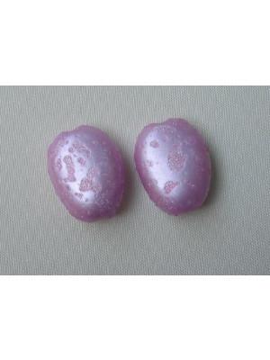 Ovale piatto 22x16 mm. colore Rosa Glacè