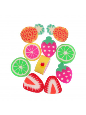 Frutti Misti in Gomma, 8-10x9-13 mm.