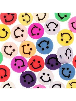 Smile in Gomma, diametro 10 mm., colori misti