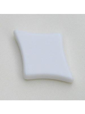 """Elemento """"CARTE da GIOCO"""", forma QUADRI, foro passante, 29x39 mm., color Bianco gesso"""