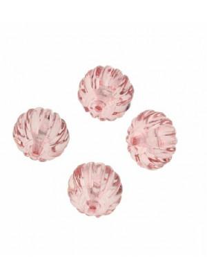 Lanterna con foro passante in resina color Rosa chiaro trasparente
