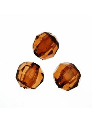 Palla sfaccettata in resina color Marrone scuro trasparente