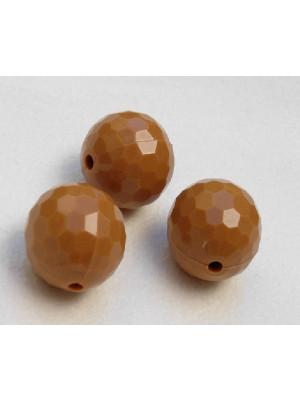 Palla multisfaccettata in resina color Giallo senape