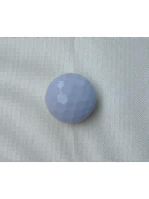 Pasticca foro passante multisfaccettata in resina color Grigio perla chiaro