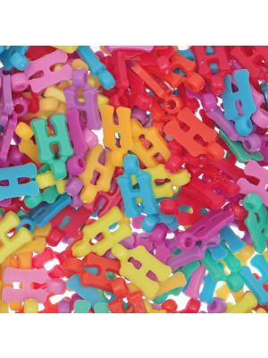 """Ciondolo in Plastica Lettera """"H"""" 18x10mm."""