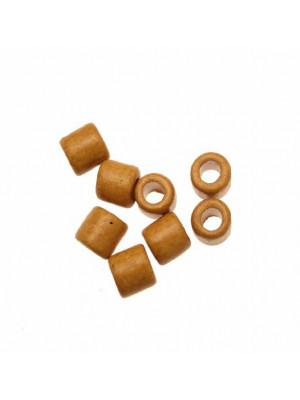 Distanziatori a tubo liscio, in ceramica, 10x11 mm., colore MOSTARDA