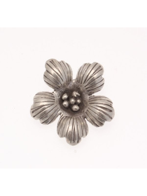 Ciondolo fiore a cinque petali, 30mm.