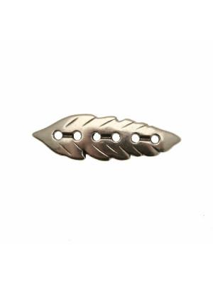 Elemento per bracciale, leggermente ricurvo, a forma di foglia