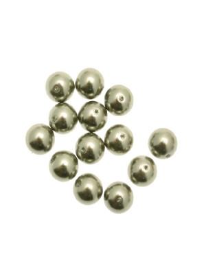 Perla in vetro effetto perlato 10 mm. color Verde salvia chiaro