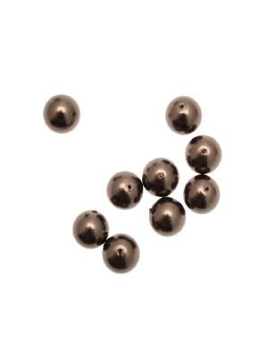 Perla in vetro effetto perlato 10 mm. color Bronzo scuro
