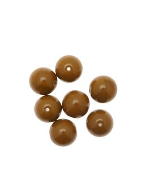 Perla in vetro colore MARRONE
