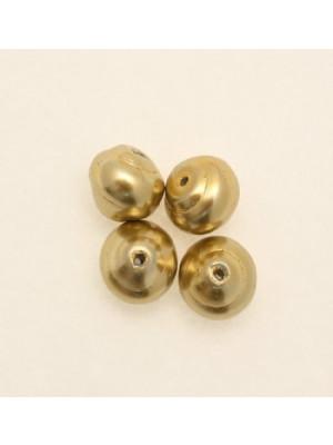 Perla in vetro effetto perlato serie pregiata, conchiglia, color Oro giallo