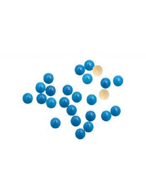 Confezione da 10 pezzi della borchia termoadesiva o da incollo, tonda, 8 mm., colore Blu fluo