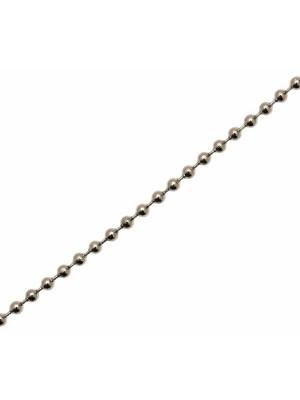 Catena a palline, in acciaio, spessore 1,5 mm.