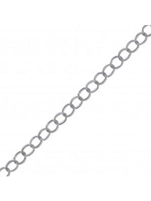 Catena tonda, in Acciaio, diametro dell'anello 3,9 mm., spessore 0,5 mm.