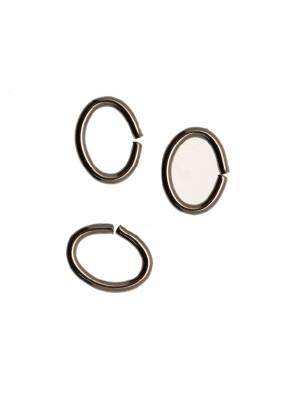 Anellino ovale apribile, 6x8 mm., in Acciaio