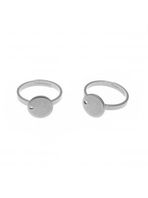 Base per anello, regolabile, in Acciaio, con piastra piatta da 10 mm.