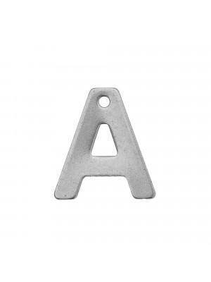 """Ciondolo a forma di lettera """"A"""", 11x10 mm., in Acciaio"""